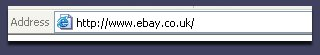 The address bar.
